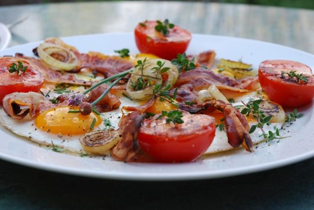 vejce se slaninou