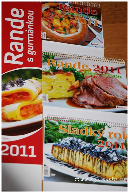 Stolní kalendáře - Rande s gurmánkou
