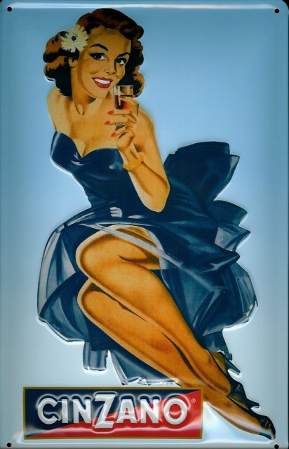 Cinzano Blue Girl