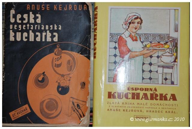 Anuše Kejřová - kuchařské knihy z mé knihovny
