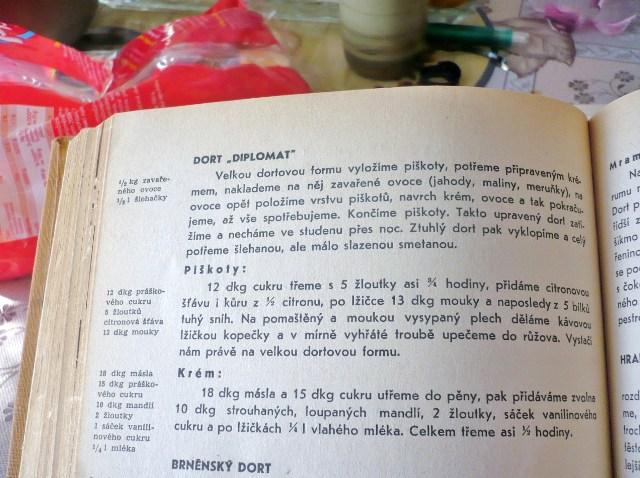 recept na dort Diplomat z knihy Anuše Kejřové
