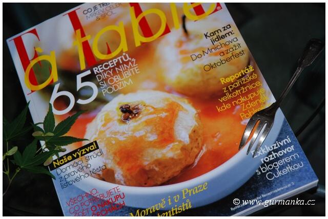 Titulka časopisu ELLE A TABLE