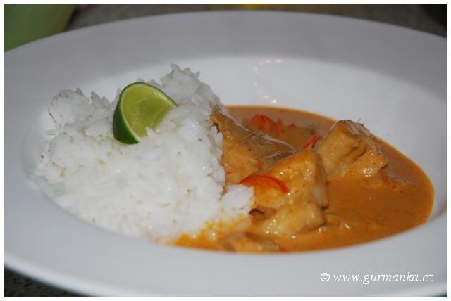 """""""thajská kuchyně - ryba a červená kari pasta - jasmínová rýže"""""""
