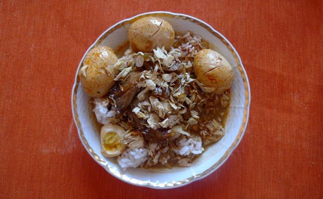 jamur santan - vegetariánské houbové jídlo