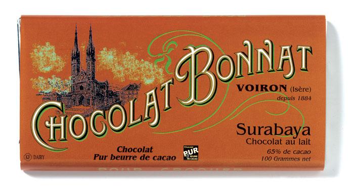 """""""čokoláda Bonnat Lait Grands Crus Surabaya 65 %"""""""