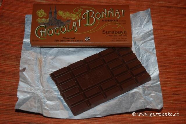 """""""tabulka luxusní mléčné čokolády od Bonnata"""""""