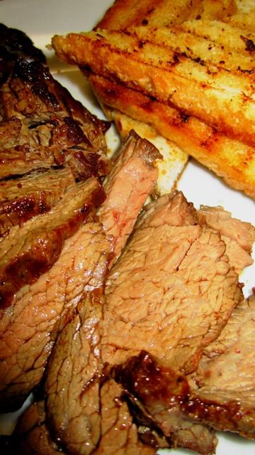 """hovězí pupek - flan steak"""