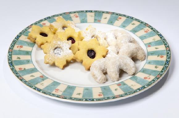 linecké cukroví a vanilkové rohlíčky