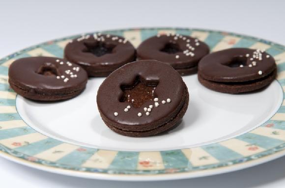 vánoční cukroví - sacher dortíčky
