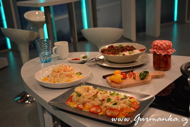 Televizní vaření ČT2 Chilli con carne a Zelný salát s pomerančovou chilli zálivkou