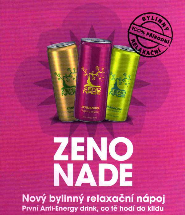 ZENONADE relaxační nápoje Anti-Energy drink