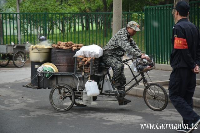 pečené sladké brambory, Čína