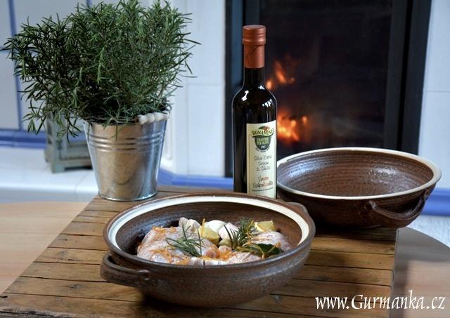 pečené kuře, středomořská kuchyně